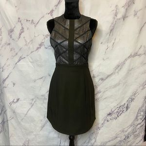 Adelyn Rae Metallic Silver Criss Cross Dress